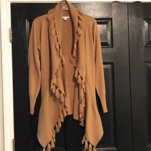 Brown fringe cardigan from NY and Company